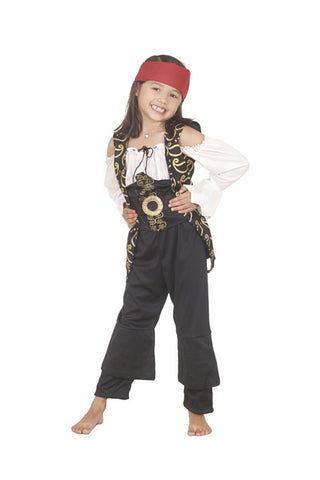 ANGELICA CARIBBEAN PIRATE COSTUME, CHILD - SIZE 4-6