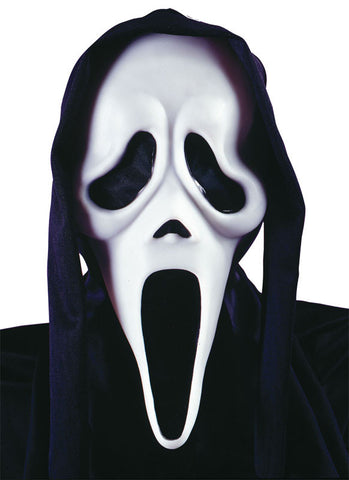 Scream Ghost Face Mask w/Shroud