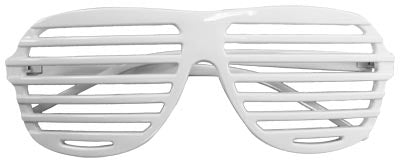 80s Slot Glasses - White