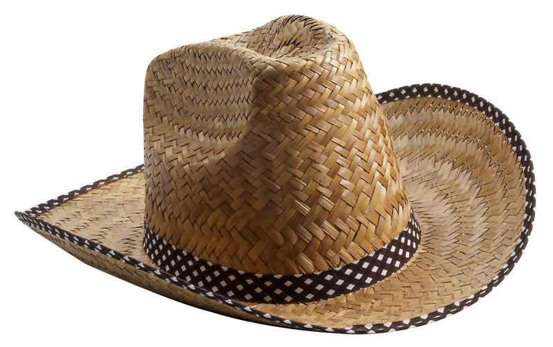 Straw Cowboy Hat - Natural Colour