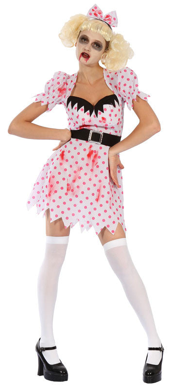 Bloody Zombie Girl - Adult - Large