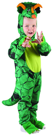 LIL TRICERATOPS JUMPSUIT DINOSAUR COSTUME, TODDLER SIZE