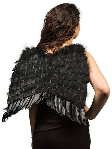 Black Economy Adult Feather Wings
