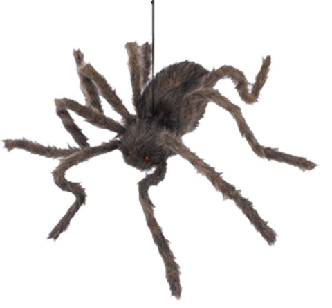 Posable Hairy Spiders - Asst Colours