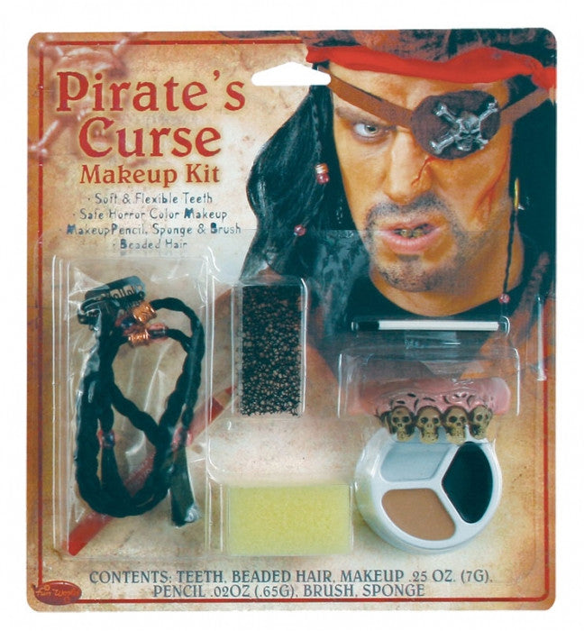 PIRATE CHARACTER MAKEUP KIT, ADULT