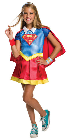 SUPERGIRL DC SUPERHERO DELUXE, CHILD - AGES 6-8