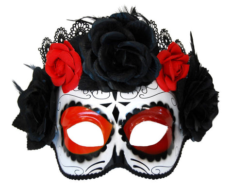 Masquerade Mask - Day of the Dead Style, ADULT