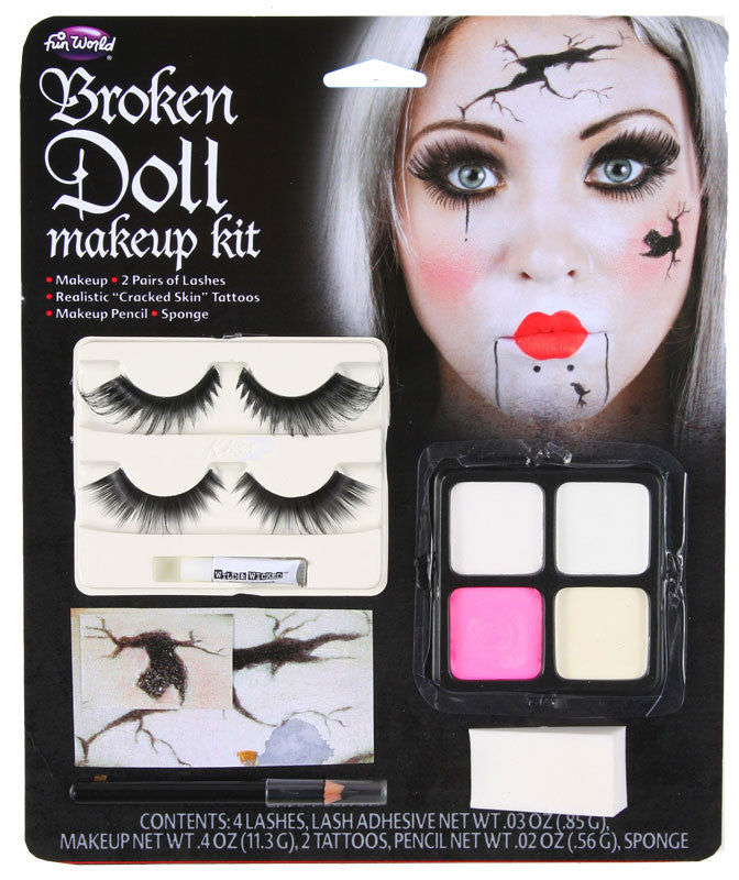 HALLOWEEN HORROR DOLL MAKEUP KIT, ADULT