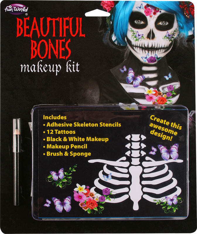 HALLOWEEN SUGAR SKULL MAKEUP KIT, ADULT
