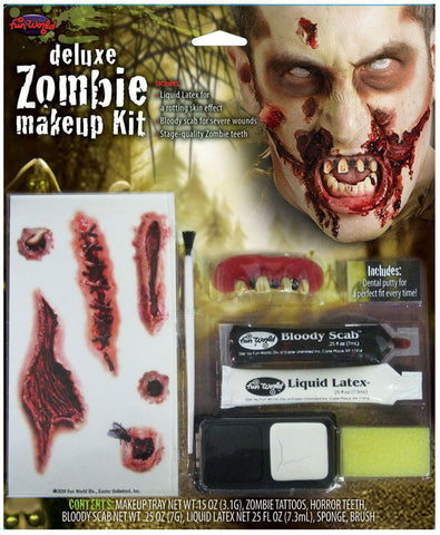 ZOMBIE DELUXE MAKEUP KIT, ADULT