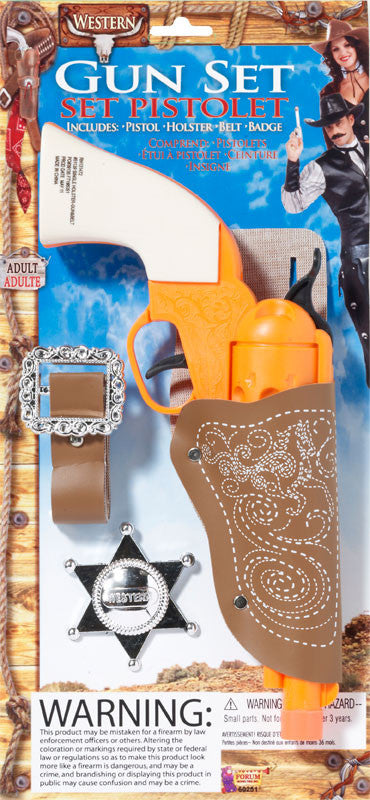 Western Cowboy Set - Gun Holster & Badge