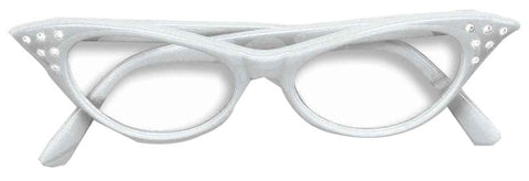 50s Rhinestone Glasses - White