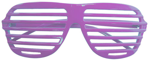80s Slot Glasses - Neon Purple