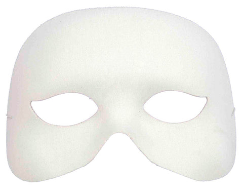 Cocktail Half Mask - White