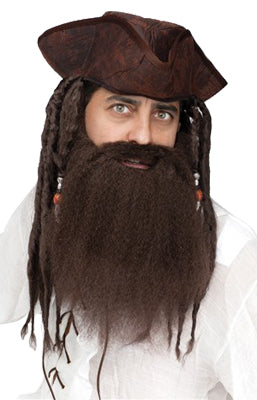 Crimped Pirate Beard - Brown