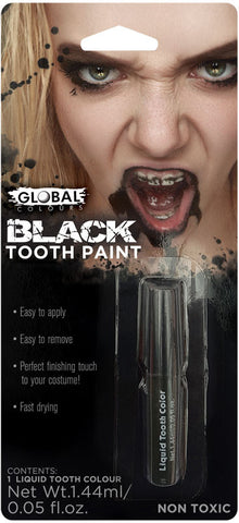 BLACK GOTHIC ZOMBIE TEETH MAKEUP, ALL AGES