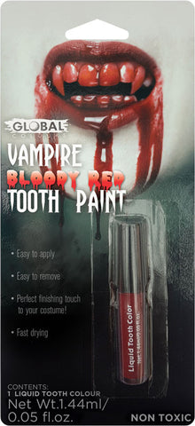 VAMPIRE BLOOD RED HALLOWEEN TOOTH MAKEUP, ALL AGES