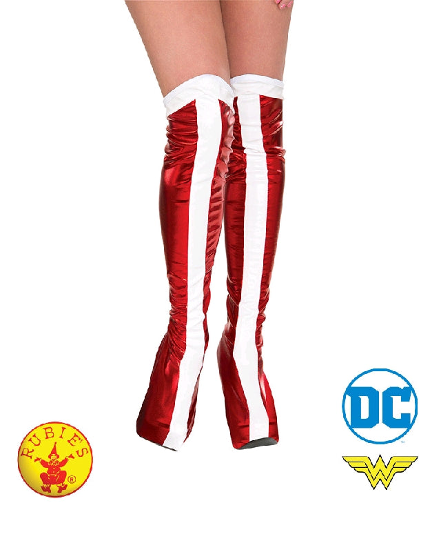 WONDER WOMAN BOOT COVERS, ADULT - ONE SIZE