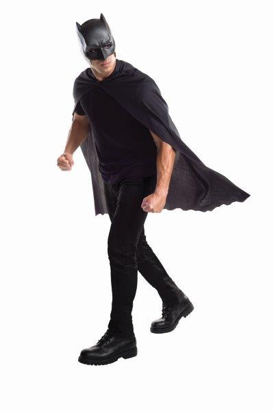 BATMAN CAPE AND MASK SET, ADULT - SIZE STD