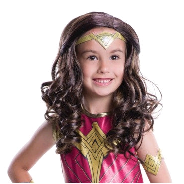 WONDER WOMAN WIG, CHILD SIZE