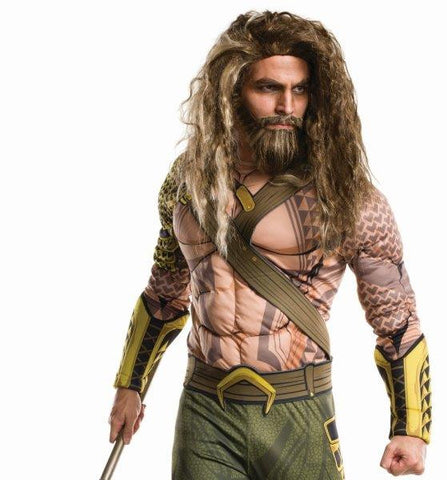 AQUAMAN WIG AND BEARD, ADULT SIZE