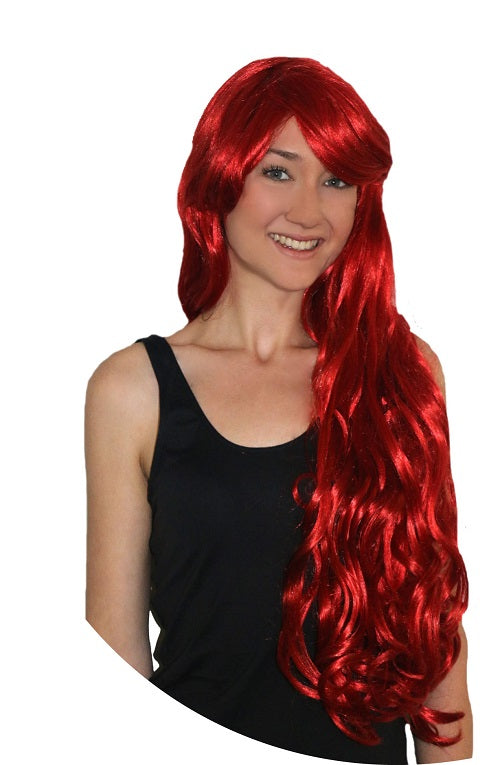 Deluxe Mermaid Long Red w/Fringe wig