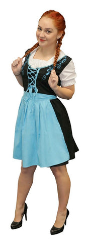 OKTOBERFEST BLUE BEER MAIDEN COSTUME, ADULT - SIZE L/XL