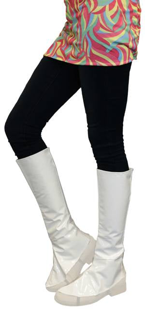 Instant Knee High Boot Tops - White