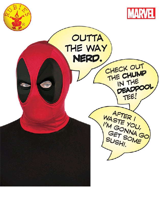 DEADPOOL SPEECH BUBBLE MASK, ADULT - SIZE STD
