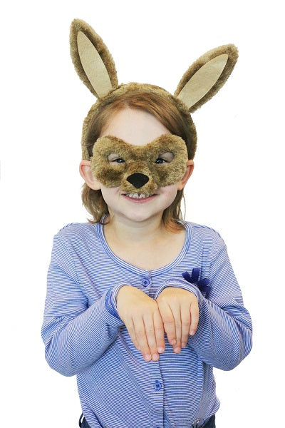 Animal Mask & Headband - Kangaroo