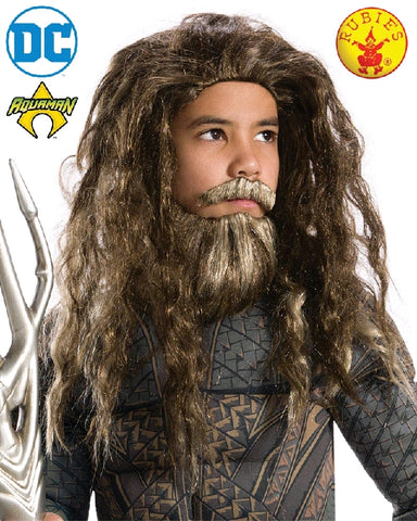 AQUAMAN WIG AND BEARD, CHILD SIZE