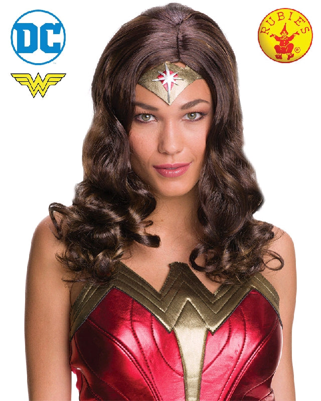 WONDER WOMAN WIG, ADULT SIZE