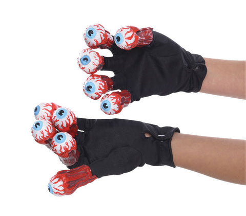 BEETLEJUICE GLOVES WITH EYEBALLS, ADULT