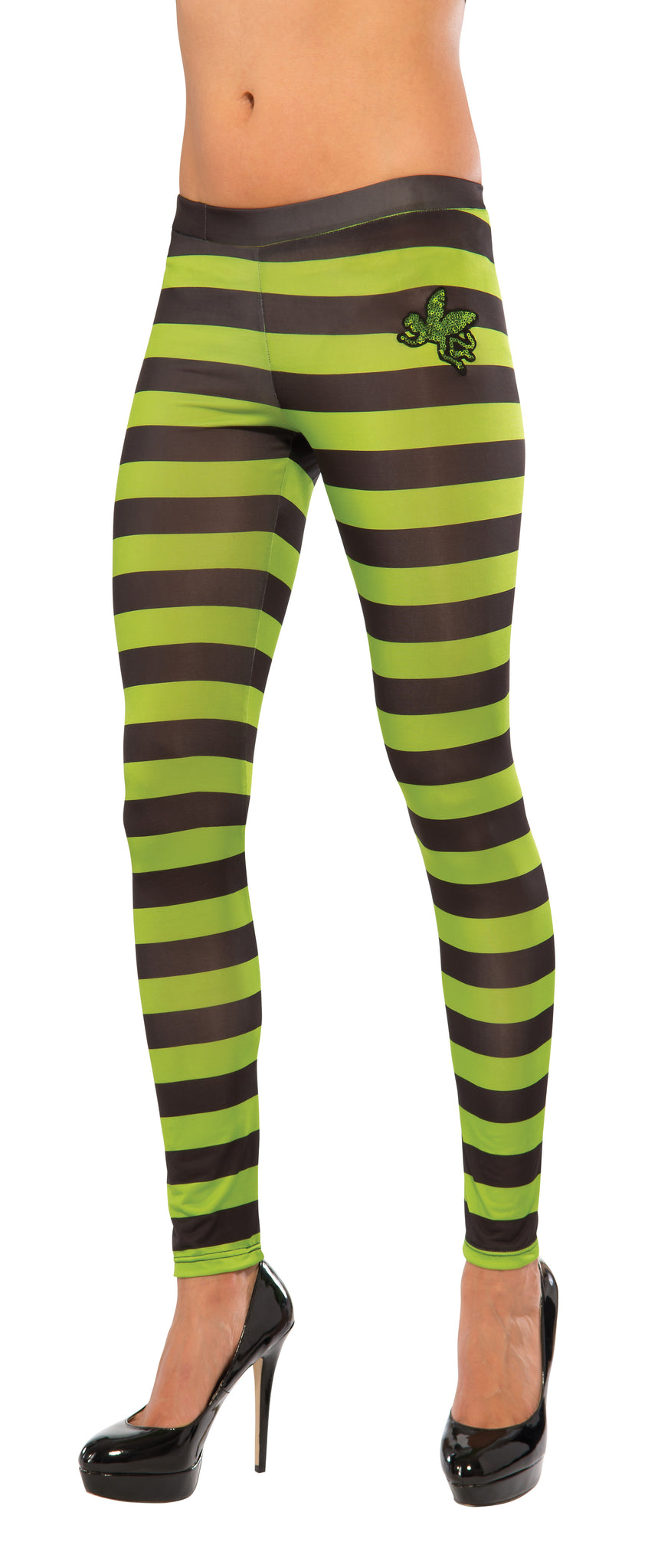 WICKED WITCH OF THE WEST STRIPED LEGGINGS