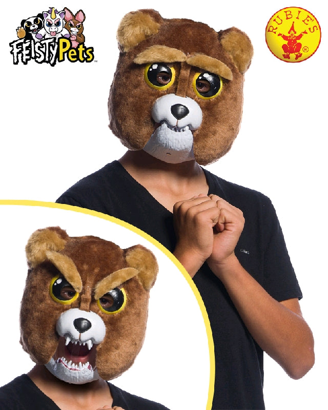 SIR GROWLS-A-LOT BEAR MASK, CHILD SIZE