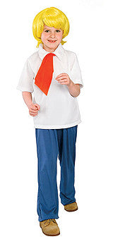 FRED SCOOBY DOO COSTUME , CHILD - SIZE S