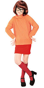 VELMA SCOOBY-DOO COSTUME, CHILD - SIZE L