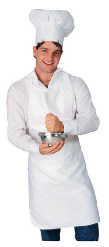 CHEF APRON AND HAT COSTUME, ADULT - SIZE STD
