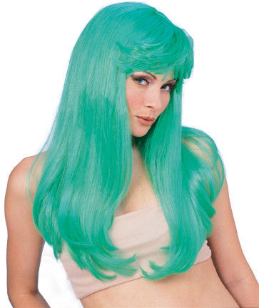 GLAMOUR GREEN WIG ADULT