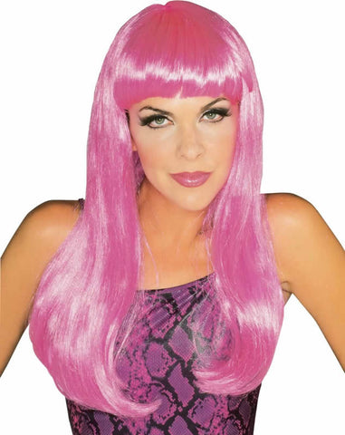 GLAMOUR HOT PINK WIG ADULT