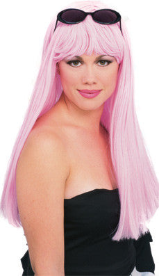 GLAMOUR LIGHT PINK WIG ADULT