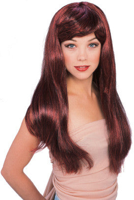 GLAMOUR RED/BLACK WIG ADULT