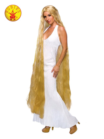 LADY GODIVA LONG BLONDE WOMENS WIG, ADULT