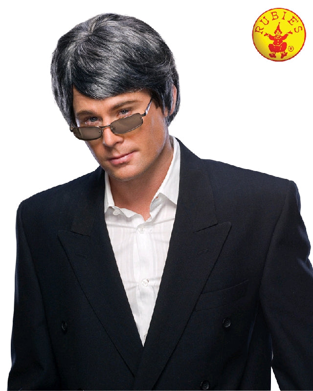 GREY SMOOTH GENTLEMEN WIG, ADULT