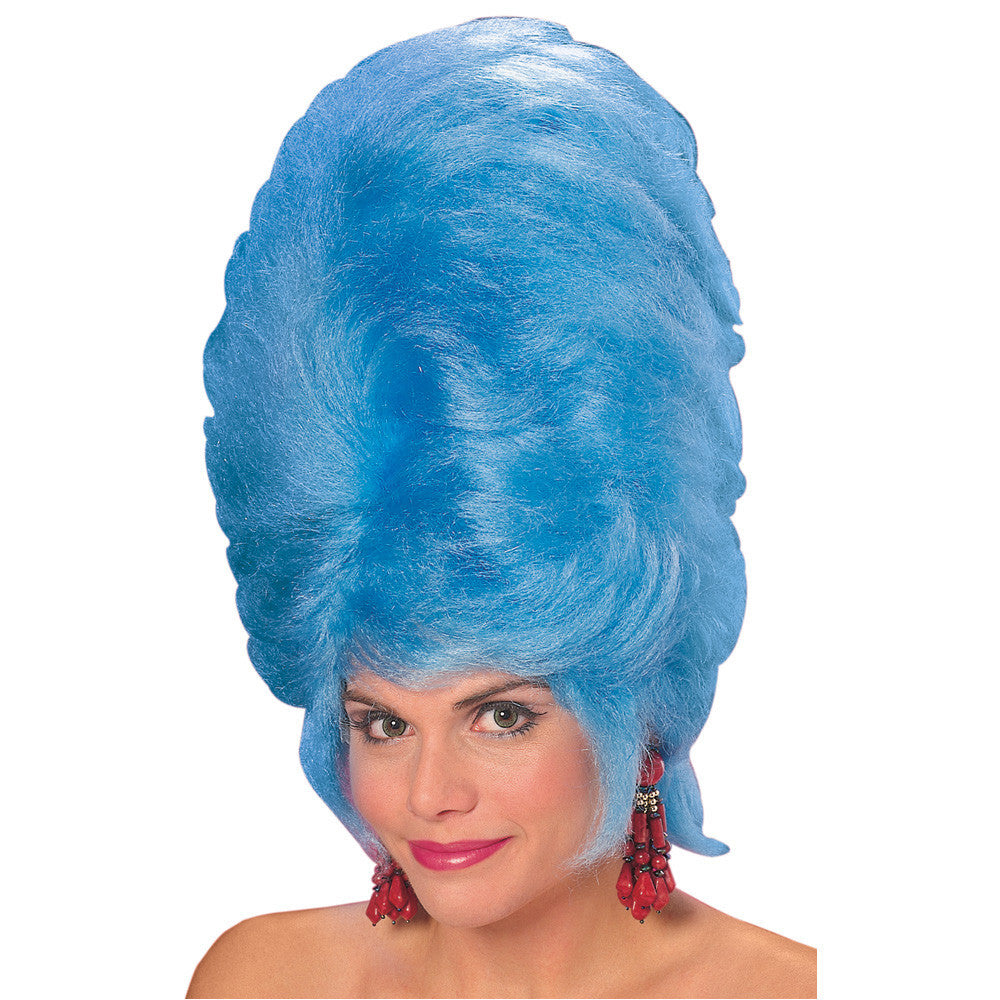 BIG BLUE BEEHIVE WIG, ADULT