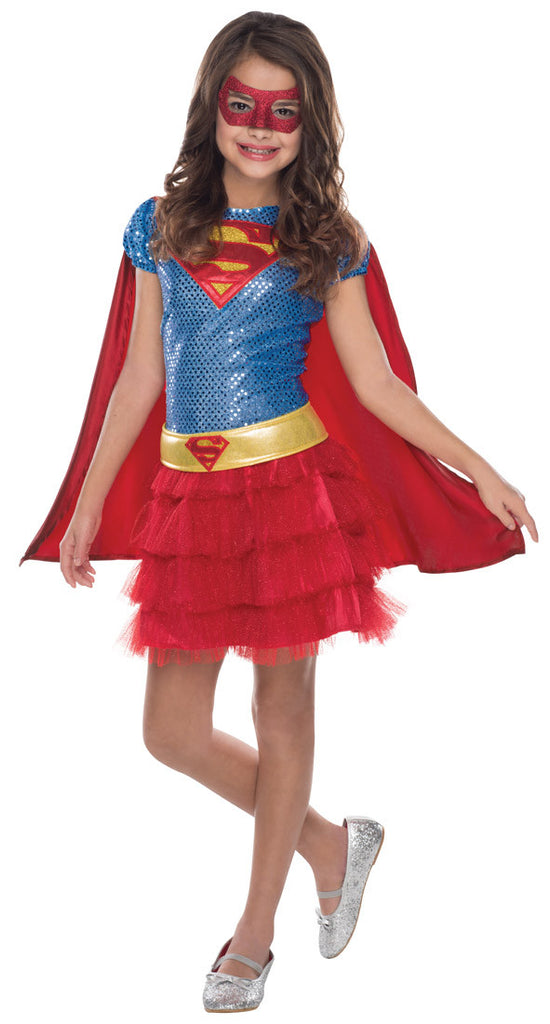 SUPERGIRL SEQUIN TUTU COSTUME - SIZE TODDLER