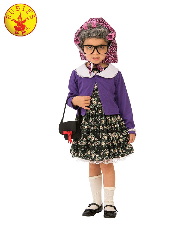 LITTLE OLD LADY COSTUME, CHILD - SIZE M