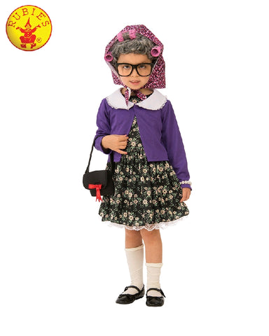 LITTLE OLD LADY COSTUME, CHILD - SIZE S