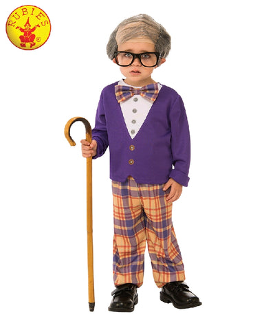 LITTLE OLD MAN COSTUME, CHILD - SIZE S