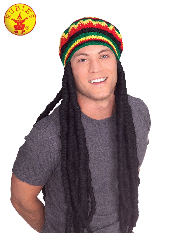 RASTA REGGAE WIG WITH CAP, ADULT